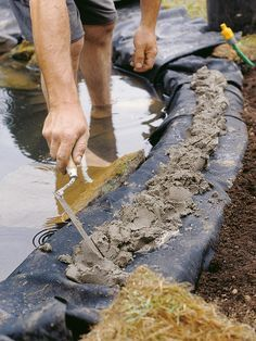 The gardening experts at HGTV.com show how to create a wildlife pond in your backyard.