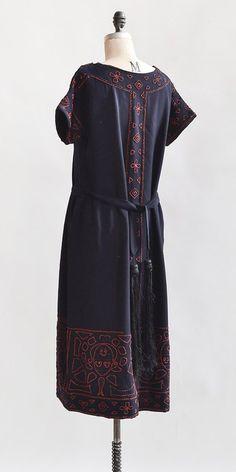 New Enchantments Dress / vintage 1920s dress / 20s vintage dress