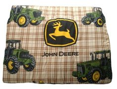 John Deere Bedding Traditional Tractor and Plaid Collection Comforter, Twin Size by John Deere. $50.00. Comforter fits a twin size bed. Also look for matching sheet sets, drapes, and bed skirt for a room your tractor fan will love. Brown plaid is decorated with john deere tractors and logo. Machine wash separately on gentle cycle in cold water, tumble dry. Comforter is 62 by 86-inch. John Deere's Traditional Tractor and Plaid Bedding Collection is a favorite fo...