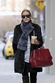 Olivia Palermo does casual in Zara in Brooklyn
