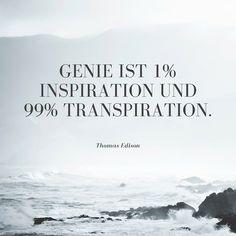 Zitat von Thomas Edison, mehr inspirierende und motivierende Zitate im Blogbeitrag von magicofword unter http://www.magicofword.com/blog/10-motivierende-zitate-fuer-unternehmer