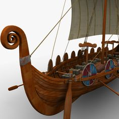 Viking Ship Model available on Turbo Squid, the world's leading provider of digital models for visualization, films, television, and games. Casa Viking, Escudo Viking, Viking Longboat, Ship Figurehead, Model Ship Building, Viking Ship, Viking Culture, Early Middle Ages, Norse Vikings