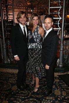 Christopher de Vos, Natalie Massenet MBE & Peter Pilotto at the British Fashion Awards 2012