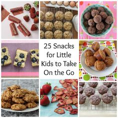 Whether you're heading out on vacation, a road trip, a day out of the  house, or a playdate at the park, these 25 ideas will help keep your  toddler full and happy. I've included a nice mix of homemade recipes,  store-bought items, and a few assembly-only ideas to give you a range of  options fo
