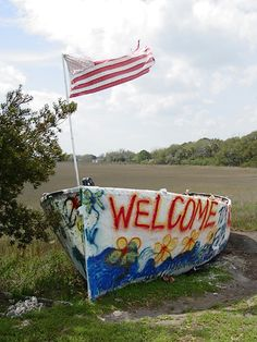 This boat was displaced by HurricaneHugo & has been painted just about every other day on Folly beach in South Carolina. :)
