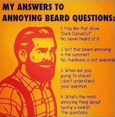 beard quotes | Dump A Day answers to beard questions - Dump A Day