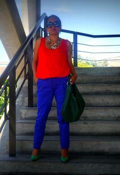 Color Block   , Marquis en Camisas / Blusas, Basement en Pantalones, Aziz en Tacones / Plataformas, DoIt en Otras joyas / Bisutería, DoIt en Gafas / Gafas de sol, Axxs en Bolsos