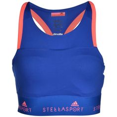 Adidas Stella Sport Top ($38) ❤ liked on Polyvore featuring activewear, bright blue, adidas, adidas sportswear, sports activewear, logo sportswear and adidas activewear