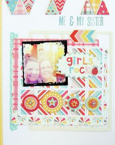 Layout by Tina Walker using My Mind's Eye My Girl Collection