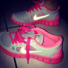 <3 hot pink nikes <3