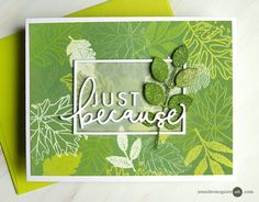 Layered Distress Oxide Resist Video by Jennifer McGuire Ink Jennifer Mcguire Ink, Leaf Cards, Concord And 9th, Handmade Birthday Cards, Handmade Cards, Distress Oxide Ink, Card Making Tutorials, Get Well Cards, Fall Cards