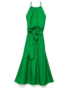 Rebecca Taylor green At Last dress with tie waist