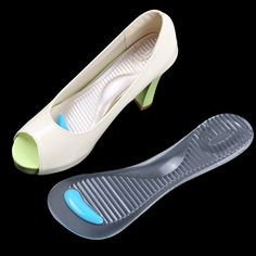 2017 New 2 Pairs Transparent Silicone Gel Insoles 3/4 Pad for High Heel Arch Relieve Pad beauty Healthy Product foot Patch ST1#