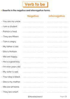 English Homework, English Grammar For Kids, English Worksheets For Kids, English Lessons For Kids, Kids English, English Vocabulary, Preschool Charts, Letter Worksheets For Preschool, Grammar Exercises