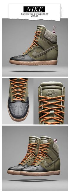 Nike Dunk Sky Hi Sneakerboot Wedge. I'm kinda torn between liking and disliking them...