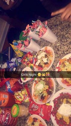 Girls Night In Party Ideas Food Snacks . Girls Night In Party Ideas Food Sleepover Snacks, Teen Sleepover, Fun Sleepover Ideas, Sleepover Birthday Parties, Birthday Party For Teens, Snacks Für Party, 13th Birthday, Girls Night In Food, Night Food