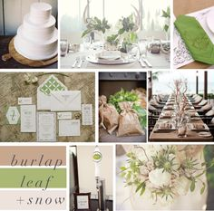 delight by design. Love the color combination of leaf/burlap/snow.