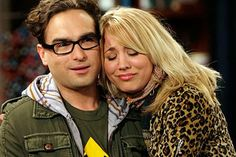 cute pic of Leonard and Penny