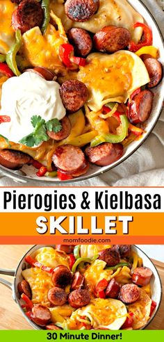 Pierogies and Kielbasa Skillet Recipe - 30 minute dinner! Pierogies and Kielbasa Skillet Recipe - 30 minute dinner! Easy Skillet Dinner, Skillet Meals, Skillet Recipes, Pierogies And Kielbasa, Perogies And Sausage Recipe, Kelbasa Recipes, Pork Recipes, Cooking Recipes, Recipes With Kielbasa
