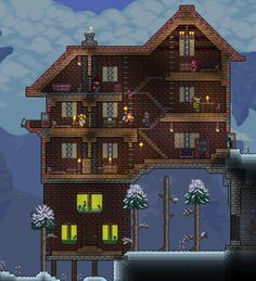 Terraria--winter house