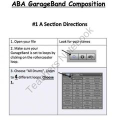ABA Form GarageBand Project product from Music and Technology on TeachersNotebook.com
