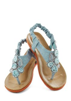 ModCloth Floral Stroll Sandal. Come see more pastels here: http://www.wantering.com/womens-clothing/pastels/