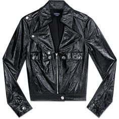 Patent Leather Moto Jacket ($249) ❤ liked on Polyvore featuring outerwear, jackets, clothing - outerwear, tops, patent leather jacket, patent jacket, motorcycle jacket, rider jacket and biker jacket