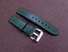 Difues Leather handcraft green watch strap Panerai от difues