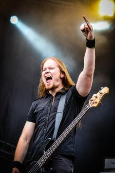 Niilo Sevänen - singer/bassist and writer of awsome lyrics - of Insomnium Metal Bands, Rock Bands, List Of Bands, Musica Metal, Death Metal, Good People, Hard Rock, Awesome Stuff, Good Music