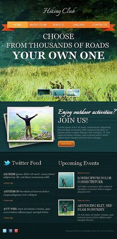 Facebook HTML CMS #template // Regular price: $59 // Unique price: $8500 // #Sport #Facebook #Outdoor #Activities