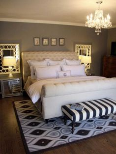 Do you need romantic bedroom decor ideas for your home? We got several amazing romantic bedroom ideas with its unique and comfortable space. Small Master Bedroom, Master Bedroom Design, Dream Bedroom, Home Bedroom, Bedroom Designs, Master Bedrooms, Bedroom Modern, Basement Bedrooms, Luxury Bedrooms
