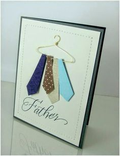 Dad Birthday Card Ideas Homemade Birthday Card Ideas For Father Flisol Home. Creative Homemade Gifts, Homemade Fathers Day Gifts, Homemade Birthday Cards, Cool Fathers Day Gifts, Fathers Day Crafts, Happy Birthday Dad, Dad Birthday Card, Diy Birthday, Diy Father's Day Cards