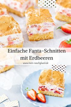 Recipe for a particularly delicious and simple sheet cake: Fanta cake with sour cream and strawberries cake einfach einfach schnell geburtstag rezepte sheet cake cake cake birthday cake decorated cake recipes Delicious Cake Recipes, Yummy Cakes, Nutella, Sour Cream Cake, Fiber Rich Foods, Strawberry Cakes, Macaron, Cake Decorating, I Am Awesome