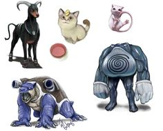 Wow. Strange ways of looking at Pokemon, but these are some cool drawings nonetheless!