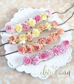 Spring boho flower roses suede tieback by Oliviaanncollections, $22.00. Perfect for flower girl!