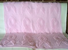 This would be great for a breast cancer chemotherapy patient pink crochet pink afghan with the cancer ribbon and hearts on it pink ribbon afghan dt1010fo