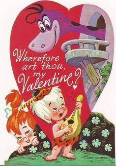Wherefore Art Thou, my Valentine? Vintage Valentine The Flintstones