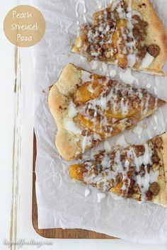 "Peach Dessert Pizza Recipe ""Recipes on My Blog"