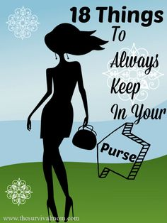 18 Things to always keep in your purse. Small items, but they come in handy! | via www.TheSurvivalMom.com