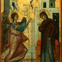 """""""Annunciation,"""" The Sinai Icon Collection Byzantine Icons, Byzantine Art, Constantine The Great, Russian Icons, Religious Paintings, Best Icons, Icon Collection, Art Icon, Religious Icons"""