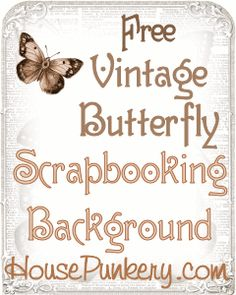 Free Scrapbooking Background - Framed Vintage Butterflies from HousePunkery Bedtime Routine, Vintage Butterfly, Figure It Out, Free Printables, Butterflies, Geek Stuff, Scrapbooking, Frame, Creative