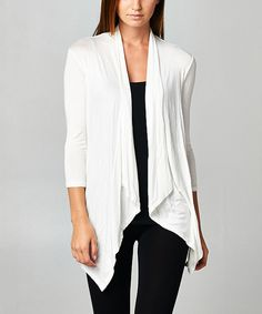 Loving this Paolino White Open Cardigan on #zulily! #zulilyfinds
