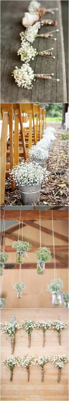 68 Baby's Breath Wedding Ideas for Rustic Weddings / www. 68 Baby's Breath Wedding I Wedding Tips, Trendy Wedding, Perfect Wedding, Diy Wedding, Wedding Reception, Wedding Planning, Dream Wedding, Wedding Day, Wedding Simple