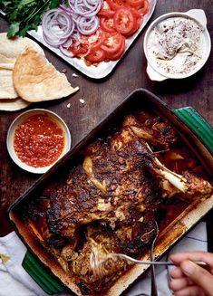 Pulled Lamb Shawarma Sandwich | Middle Eastern Recipe Yotam Ottolenghi, Ottolenghi Recipes, Nigella Lawson, Lamb Recipes, Cooking Recipes, Savoury Recipes, Dinner Recipes, Batch Cooking, Dinner Ideas