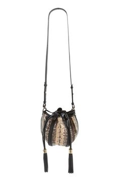 See by Chloe 'Vicki' Snake Embossed Leather Bucket Bag
