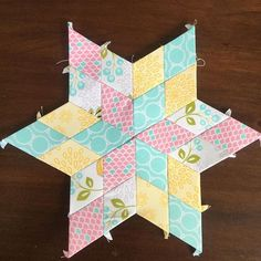 Beautiful EPP star made with the Lulabelle fabric collection #iloverileyblake #fabricismyfun