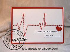 Double carte artisanale 3D Saint Valentin «Oscilloscope» /3D handmade Valentine's day double card «Oscilloscope»
