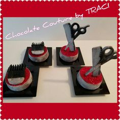 Chocolate Couture by TRACI.... Barbershop theme OREOS  All Edible!!!