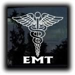 EMT Caduceus Decal Sticker - http://customstickershop.us/product-category/career-occupation-decals/