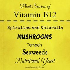 Plant Sources of Vitamin B12 #vegetarian #vegan